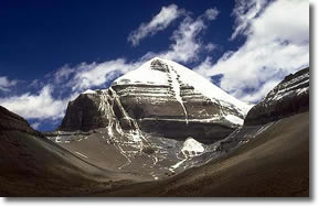 Mt. Kailash, Himalayas of Tibet. Courtesy of sacredsites.com
