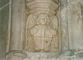 The engrailed cross of the Clan Sinclair in Rosslyn Chapel