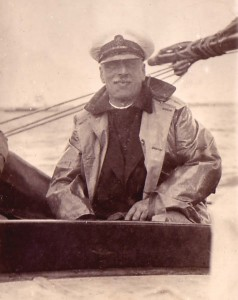Major C H Douglas on his yacht