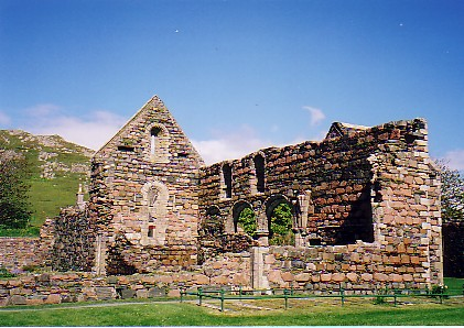 The Nunnery on Iona, a Benedictine Priory founded in 1203 A. D.