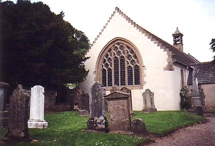 Fortingall yew and church